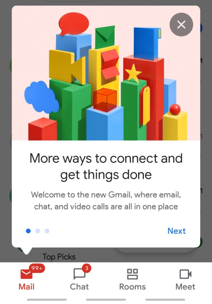 How to Enable Google Chat and Rooms Feature in Gmail App