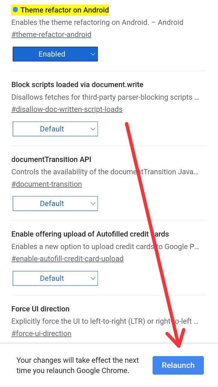 Enable Material you on Chrome Android