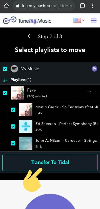 How to Import Spotify playlist to Tidal